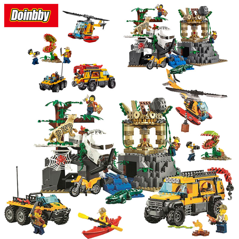 Bela 10712 City Jungle Ungle Jungle Exploration Site 60161 Building Block 857pcs Bricks Toys Compatible With Legoings City 857pcs city jungle explorers exploration site wild animals 02061 model building blocks assemble toys bricks compatible with lego