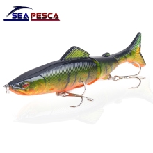 Купить с кэшбэком SEAPESCA Popular Fishing Lure 130mm 18g Multi Jointed Sections Hard Bait Artificial Crankbaits pesca Wobblers JK56