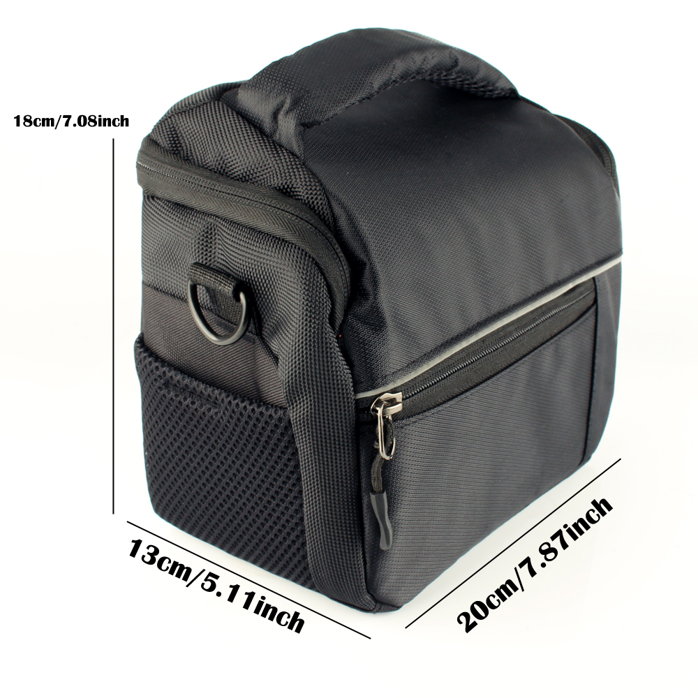 Waterproof Camera Bag Fashion Polyester Shoulder Bag Camera Case for Canon Nikon Sony FujiFilm Olympus Panasonic DSLR Cameras