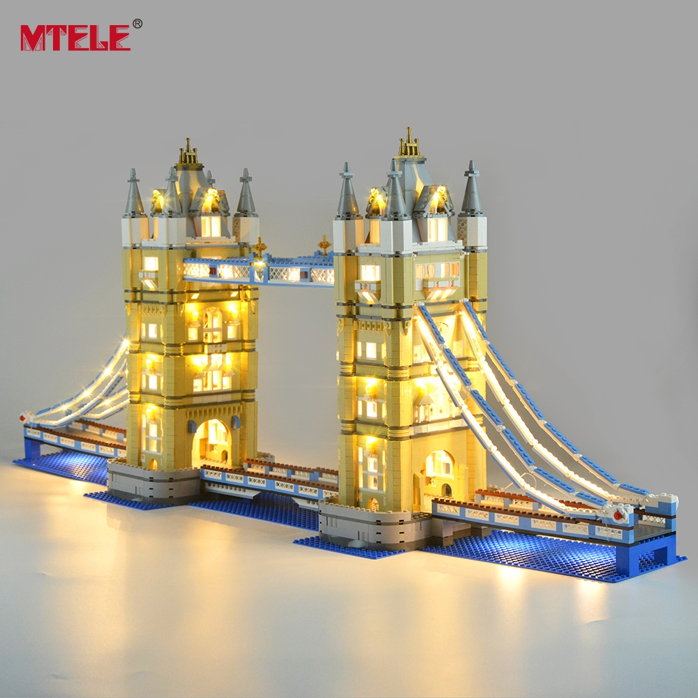 MTELE Led Light Kit For 10214 Architecture London Tower Bridge Light Set Compatible With 17004 (NOT Include The Model)