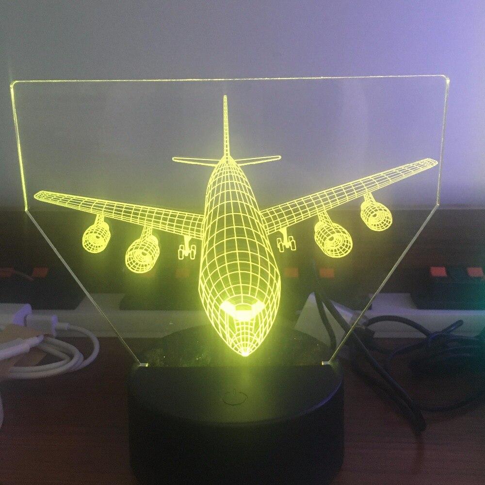 Luzes da Noite tabela lâmpada Óptica ilusão bulbificação Item : 3d Lamps With Airplane Design