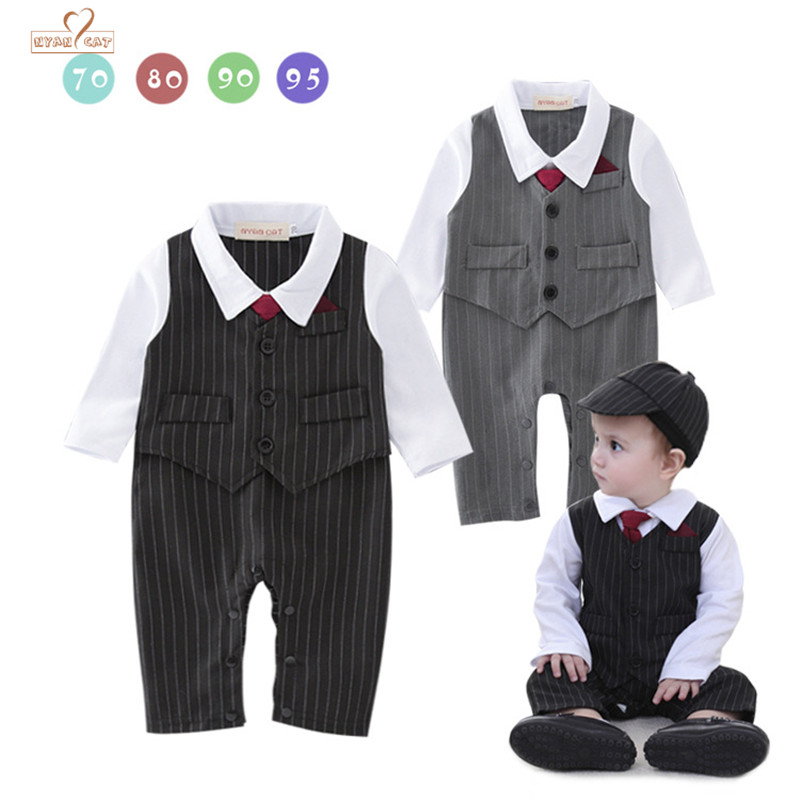 Nyan Cat Baby boy clothes bebe menino gentleman bow tie infant formal black gray vest striped romper jumpsuit wedding clothing nyan cat baby boy clothes short sleeves gentleman bow tie vest romper hat 2pcs set outfit jumpsuit rompers party cotton costume