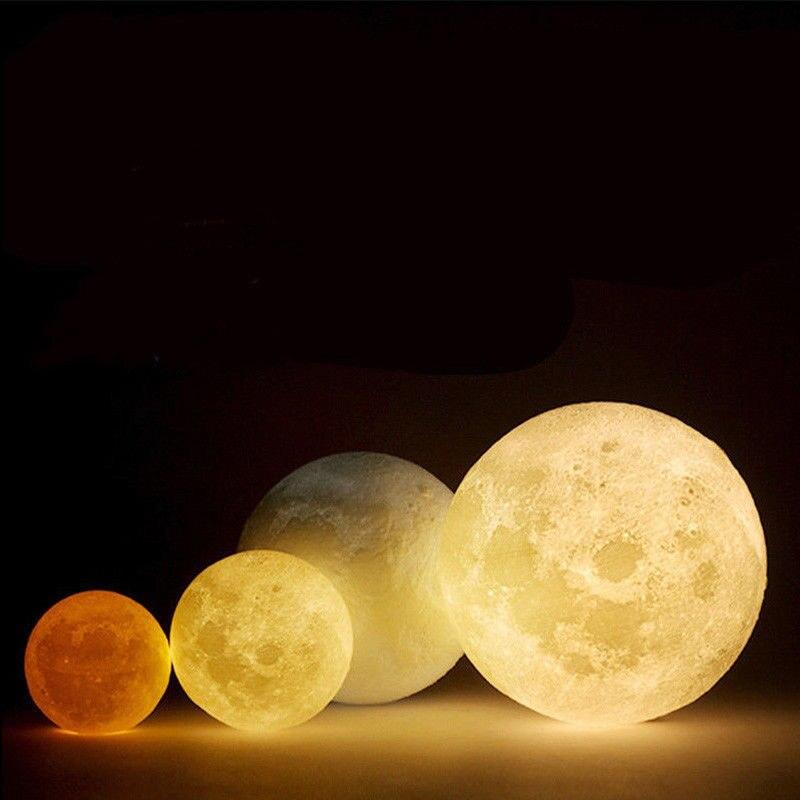 3D USB LED Магическая луна ночь свет луны лампа настольная зарядки touch Управление