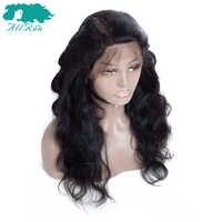 "Allrun Body Wave ลูกไม้ Frotnal วิกผม One Pack ลูกไม้ด้านหน้ามนุษย์ Wigs 8 ""- 20"" ผมมาเลเซียสาน 360 ลูกไม้ด้านหน้า Wigs Non Remy"