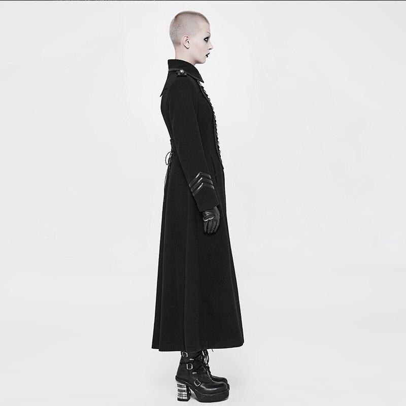 Décoré Wy En 892ecf Cordes Rave Côtés Oeillet Veste Uniforme Black Métal Rétro Poches Boucle Ajusté Laine Punk De Manteaux Mode Plaque XU0wqBw
