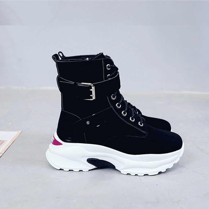 Martin laarzen vrouwen 2018 herfst en winter nieuwe Koreaanse versie 100 locomotief laarzen Britse korte laarzen retro plus snowboots