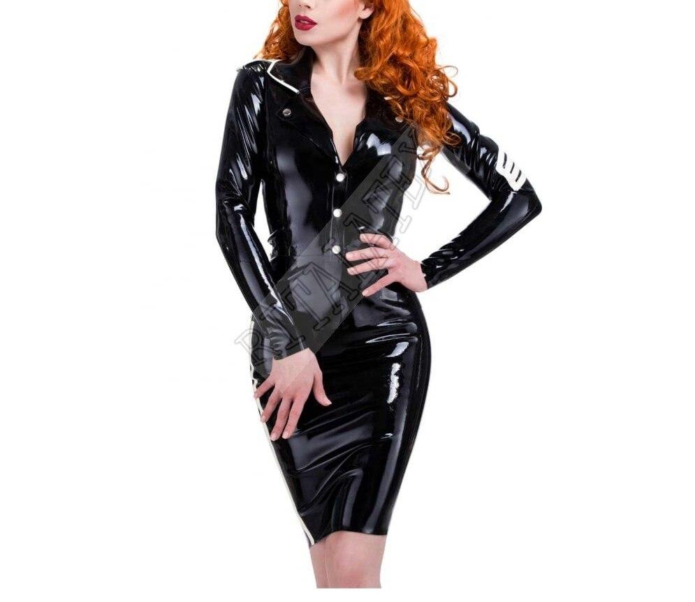 0,6 мм, военный латексный резиновый жакет, сексуальная латексная униформа, наряд, резиновая облегающая юбка для девочек, толщина 0,6 мм