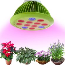 Outtled LED Highest Efficient Hydroponic Plant Grow Light E27 12W/24W for Garden Greenhouse in Best 3 Bands Growing Combination