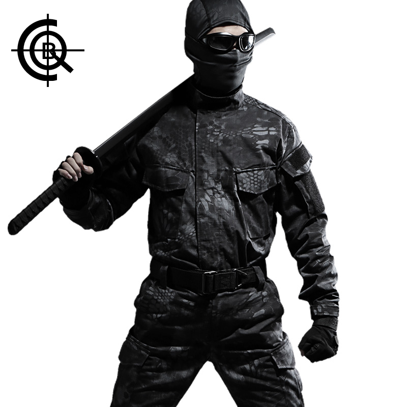 CQB Outdoor Military Camouflage Uniform Camouflage Suit  Hunting Clothes Hiking Outdoor Jacket+ Pants  CYF0693