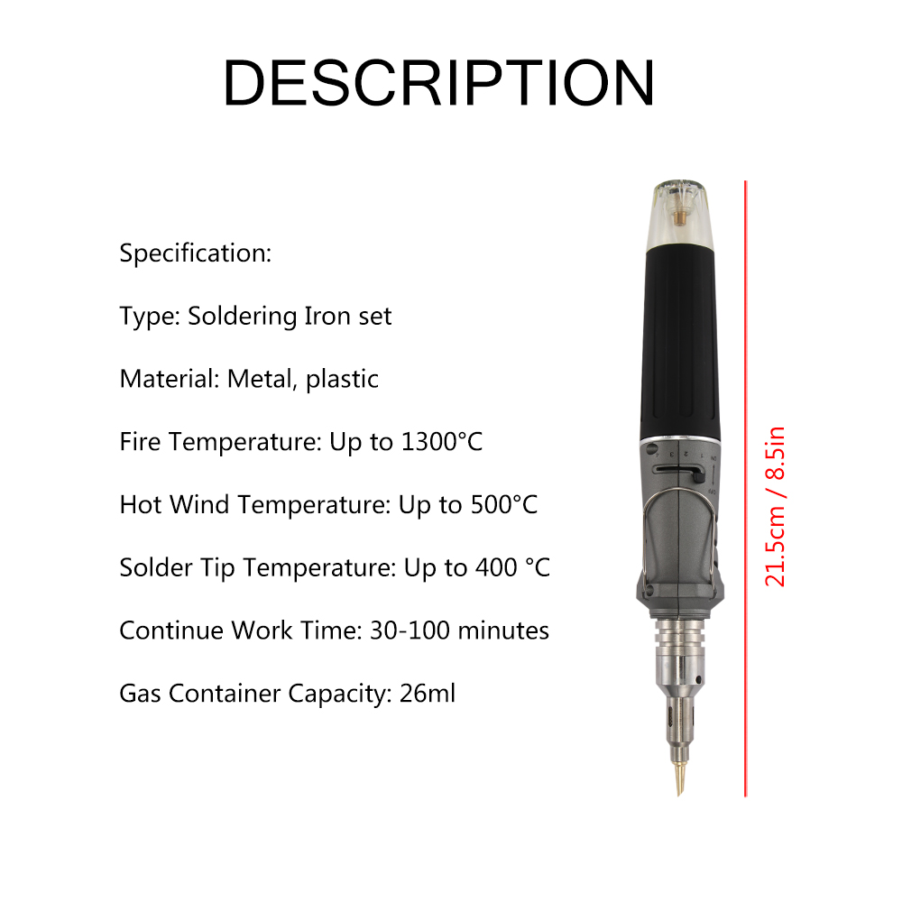 Image 3 - Self Ignition 10 In 1 Gas Soldering Iron Cordless Welding Torch Kit Tool Outdoor Portable Butane TorchElectric Soldering Irons   - AliExpress