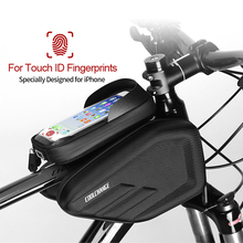 Waterproof Bike Bag Front Frame Bicycle Bag Head Top Tube Cycling Phone Bag 6.0,6.2 Inch Screen Touch Bicycle Bag Accessories cbr outdoor cycling bike touch screen top tube bag black grey