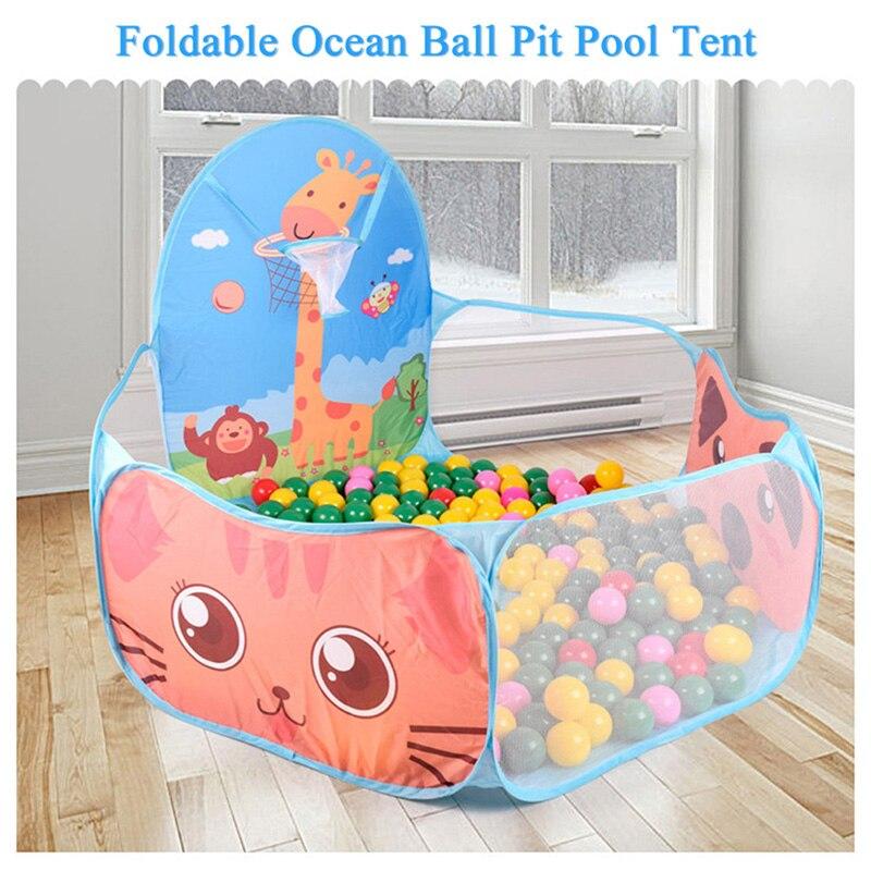 Tragbare Baby Laufstall Kinder Outdoor Indoor Ball Pool Spielen Zelt Kinder Sicher Faltbare Laufgitter Spiel Pool von Kugeln für Kinder geschenke