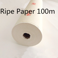 100m Mica Ripe Rice Paper Roll Chinese non absorbent Painting Calligraphy paper Artist Painting supplies