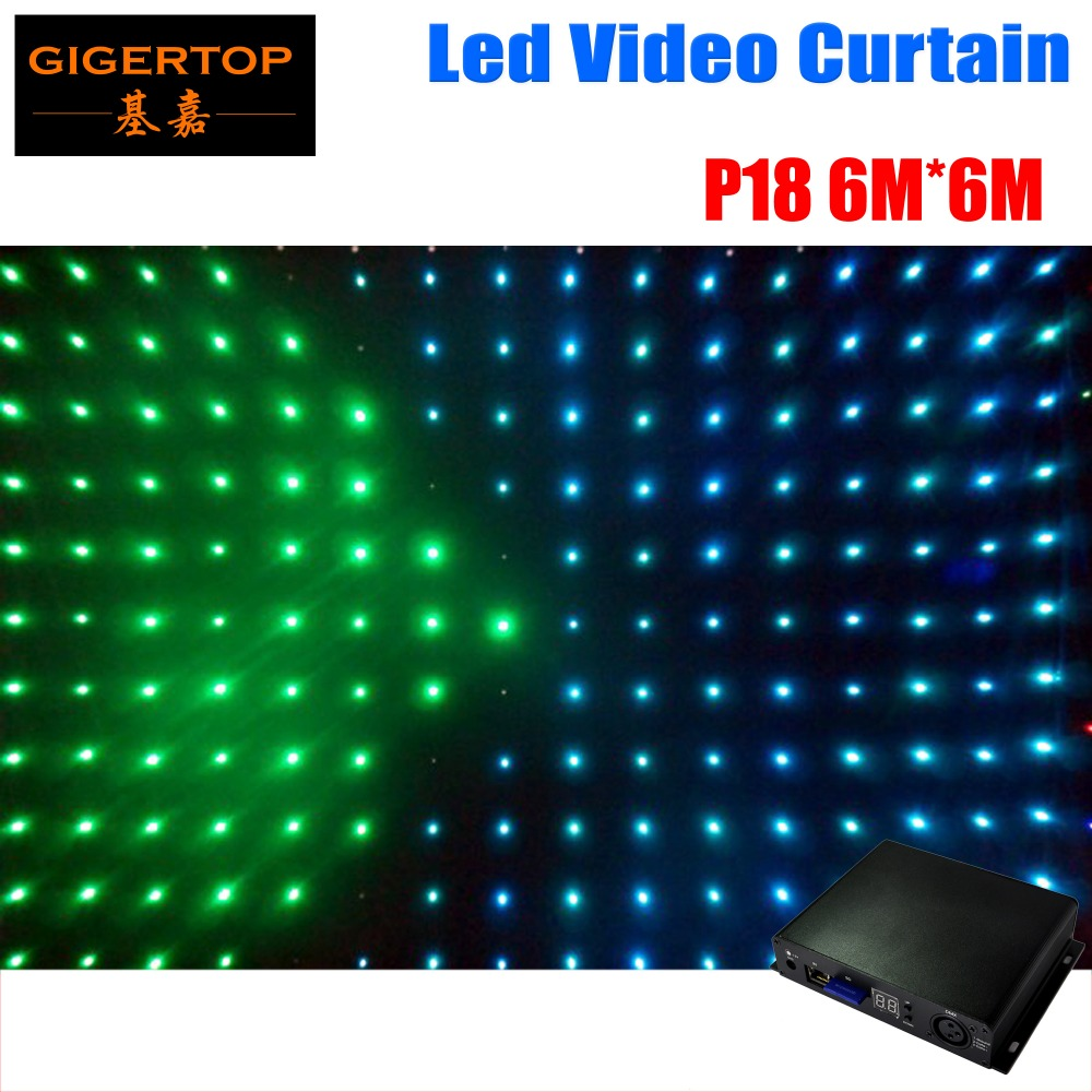 цена на P18 6M*6M Fire Proof LED Video Curtain RGB flexible led display panels for programmable led display Grommets for Truss Mounting