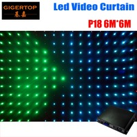 P18 6M*6M Fire Proof LED Video Curtain RGB flexible led display panels for programmable led display Grommets for Truss Mounting
