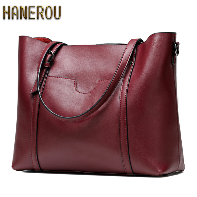 цена на 100% Genuine Leather Women Bag Ladies Women Shoulder Bags 2018 New Fashion Designer Handbags High Quality Famous Brands Tote Bag