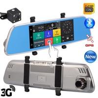 7'' Android 3G Dvr Mirror V200 16GB Rom 1GB Ram Gps Navigation Camera Video Recorder Bluetooth Wifi Dual Lens Rearview Mirror