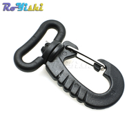 1000pcs/pack 1 Webbing Plastic Swivel Snap Hook For Keychain Backpack Buckle Belt Strap Black