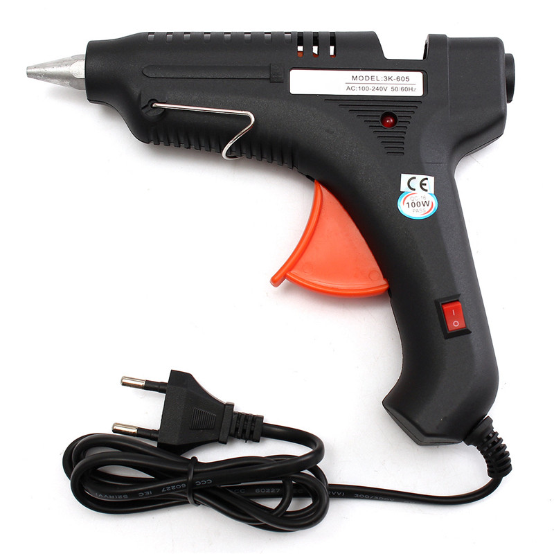 100W Heating Hot Melt Glue Gun For Art Craft Album Repair Tool High Quality 100w temperature adjustable hot melt glue gun 220v