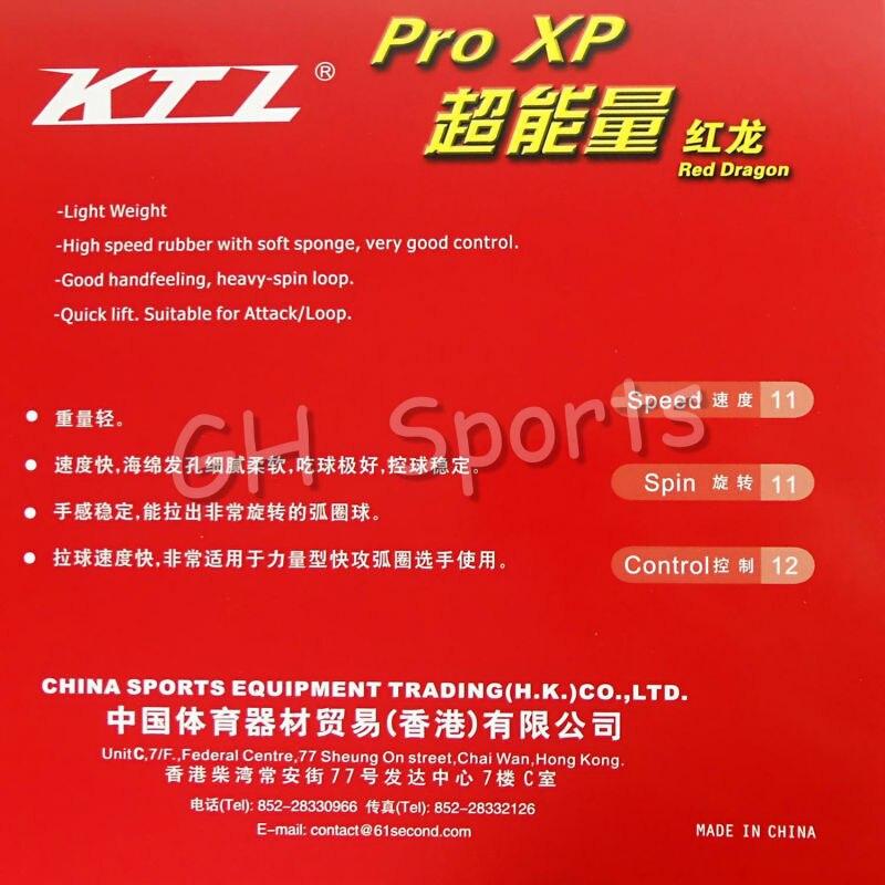 Gratis forsendelse, KTL Pro XP Red-Dragon Red Pips-i Bordtennis (Ping - Ketsjere - Foto 3