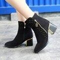Estilo de verano mujer femininas botas de mitad de la pantorrilla botas de caña alta de las mujeres masculina zapatos botines zapatos de mujer chaussure femme HQ108