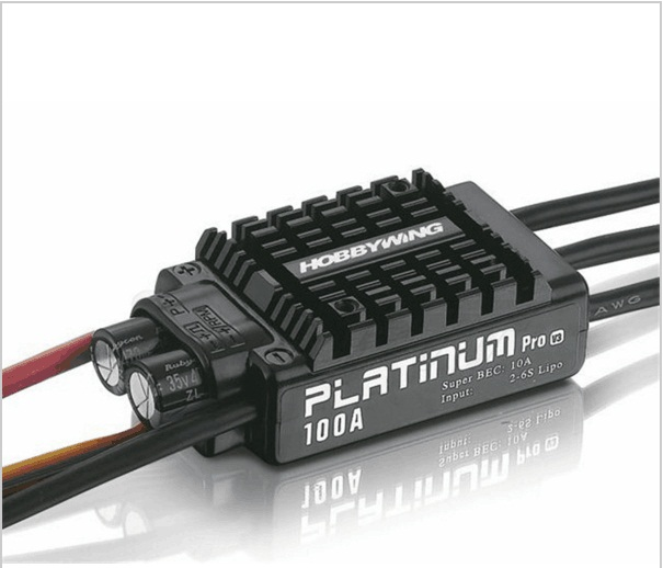 HobbyWing Platinum 100A V3 2-6S Brushless ESC For 480-550 RC Helicopter/ Multicopter 100A ESC 1pcs original hobbywing platinum 100a v3 high performance esc for align trex 550 600 700 rc helicopter fixed wing esc