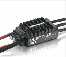 HobbyWing Platinum 100A V3 2-6S Brushless ESC For 480-550 RC Helicopter/ Multicopter 100A ESC