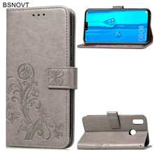 For Huawei Y9 2019 Case Soft Silicone Leather Anti-knock Wallet Cover Phone Bag