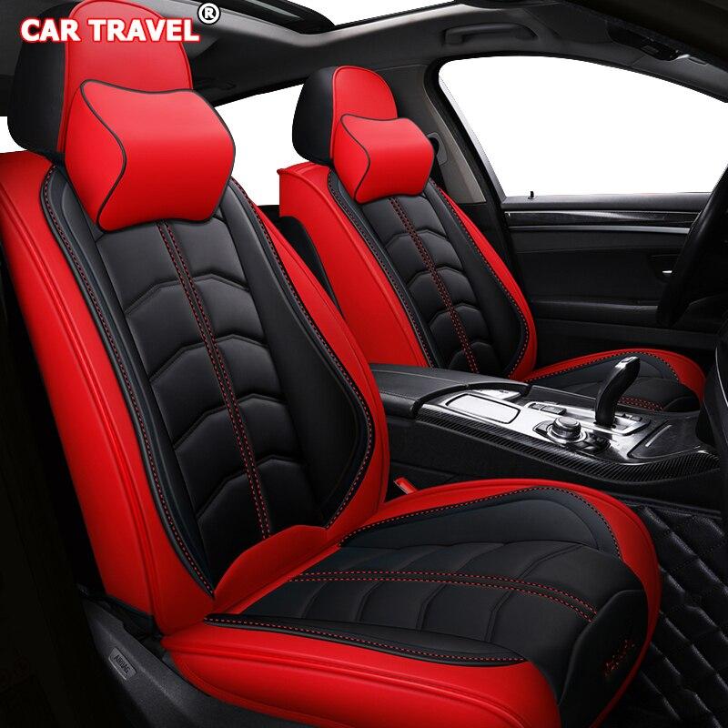 Couverture de siège de voiture en cuir de luxe avant arrière pour cadillac escalade lexus rx330 mercedes w201 w203 opel meriva b honda couvertures libérées