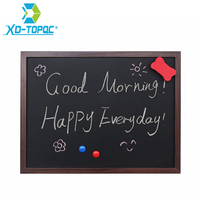 XINDI 2016 New 35 45cm MDF Wooden Frame Blackboard Magnetic ChalkBoard 5 Colors Home Decorative Message