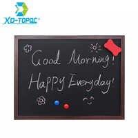 New 35*45cm MDF Wooden Frame Blackboard Magnetic ChalkBoard Dry Erase Writing Board 5 Colors Home Decorative Message Boards