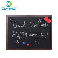 XINDI 2016 New 35 45cm MDF Wooden Frame Blackboard Magnetic ChalkBoard 5 Colors Home Decorative Message