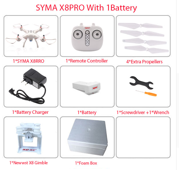 Newest SYMA X8PRO GPS DRONE RC Quadcopter With Wifi Camera FPV Professional Quadrocopter X8 Pro RC Helicopter can Add 4K Camera