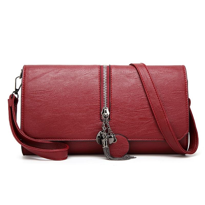 S.P.L. hot sale clutch bag solid envelope  bag shoulder women with chian tassel wristlets ladies crossbody bag for party