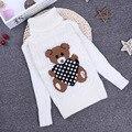 2016 novo inverno primavera outono Crianças Meninas meninos Urso grosso estiramento camisola confortável bonito Roupa do bebê Roupa Das Crianças