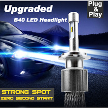 Ultra Bright Car LED Headlight use philips ZES chips 100w Car styling plug&play for Corolla Camry Focus H4 H7 H11 9005 9006