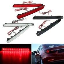 2x 24LED Arka Tampon Reflektör Kuyruk Fren Dur Koşu dönüş lambası Mazda 3 Için 04-09 Park Uyarı Gece Sürüş sis Lambası