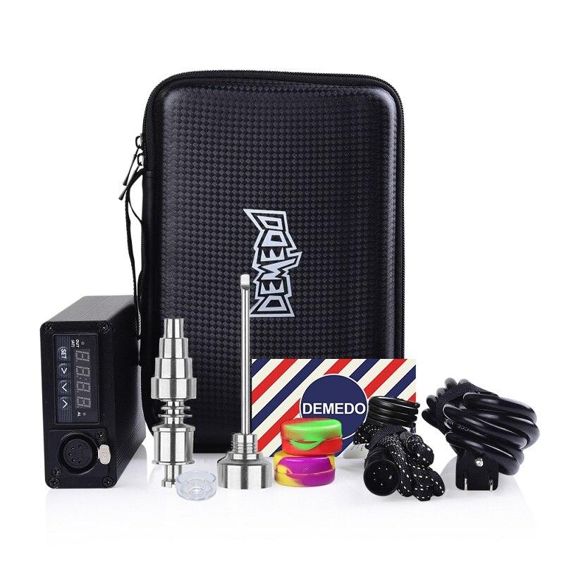 Enail Dab E Híbrido Elétrica Prego Com Kit Carb Cap 20 3dnail milímetros Dabber de Quartzo de Titânio Bobina De Controle de Temperatura PID kit aquecedor