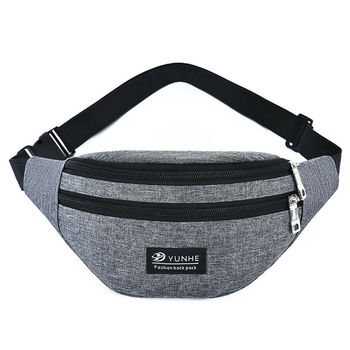 Fashion Oxford cloth waist bag Men's and women's universal fanny pack sports travel outdoor solid color chest bag heuptas