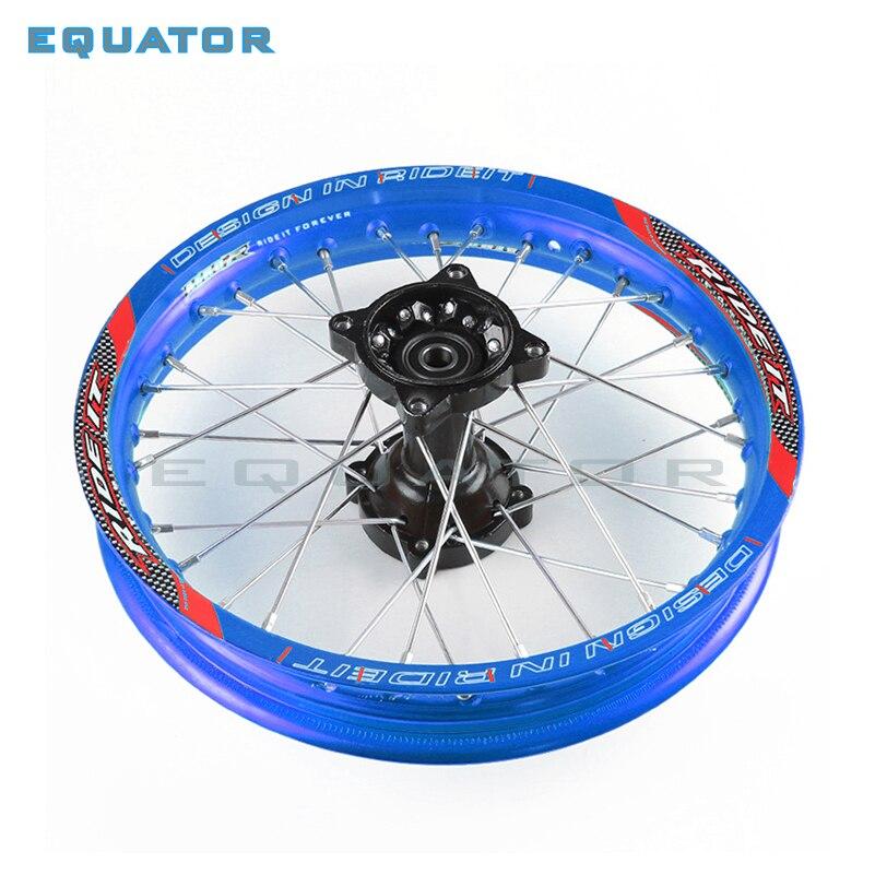 Jante de roue en alliage d'aluminium bleu avant 1.40x14