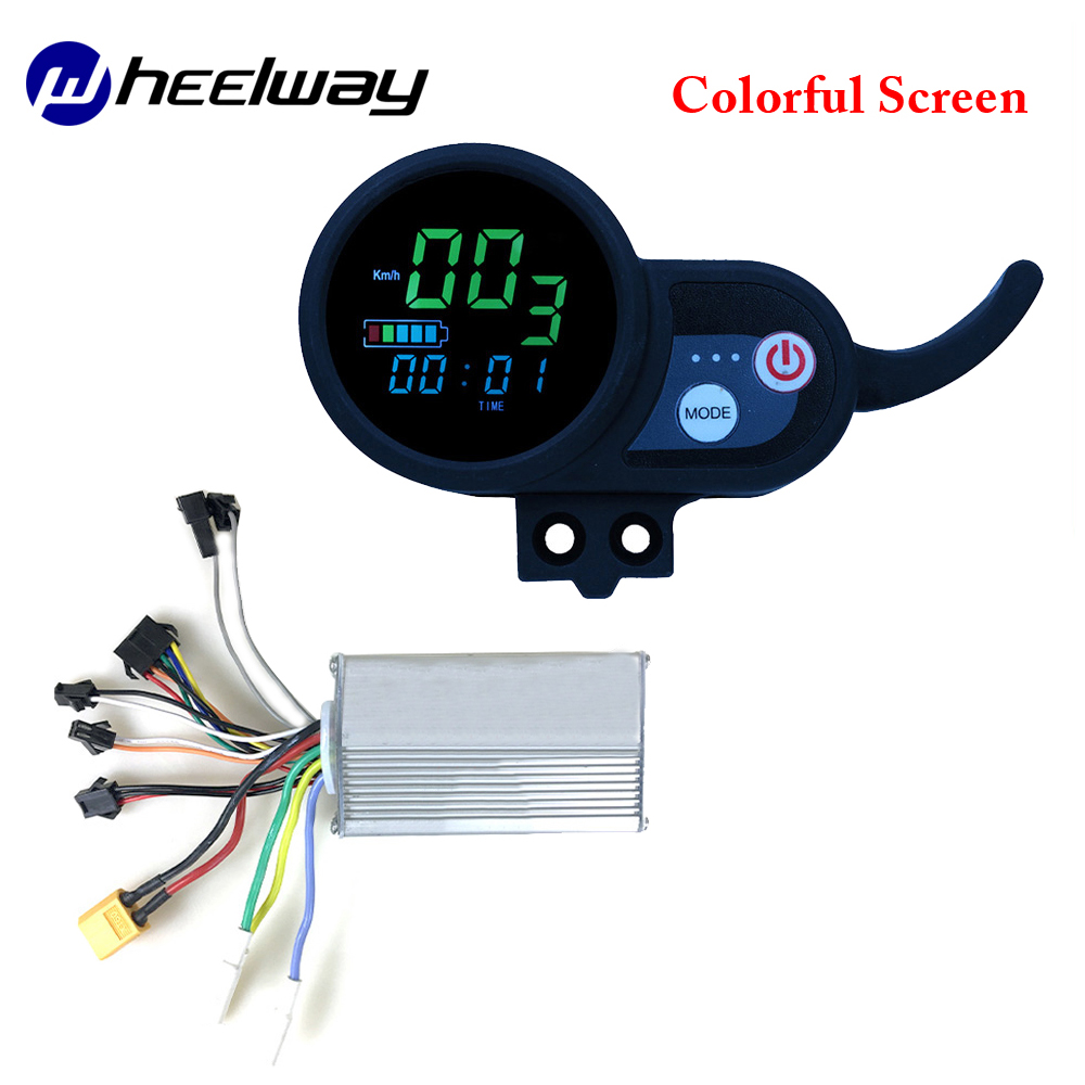 WheelwayElectric bicycle modified car controller 36V48V52V60V electric bicycle display electric bicycle color screen LCD display