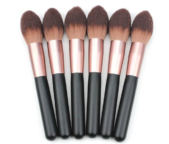 1 pc de calidad profesional de pelo de Nylon gran polvo suave grande Blush llama cepillo Fundación BB crema Rouge maquillaje cepillo cosmético herramienta