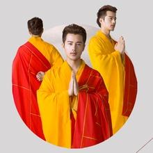 Буддийский монах Халаты высокое качество Шаолинь Для мужчин халат Китайский известный бренд буддийский монах ряса одежда аббат Bonze Тан костюмы