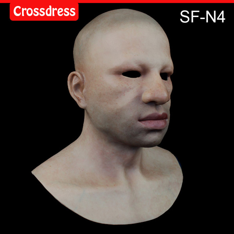 SF-N4  silicone true people mask  costume mask human face mask silicone dropshipping sf 8 silicone true people mask costume mask human face mask silicone dropshipping