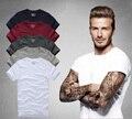 2016 летом бренд мужской с коротким рукавом 100% хлопок Футболки мужчин дна рубашки сплошной цвет Повседневная О-Образным Вырезом Мужской Топы и тройники