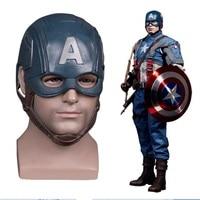 Captain America headgear Kigurumi Halloween Cosplay Masks Helmet Masquerade Props Latex Party Mask