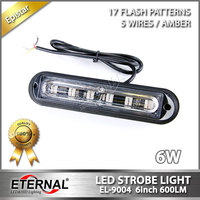 4pcs 6inch 6W Truck Strobe Light Amber LED Strobe Emergency Light Signal Lamp Industry Equipment Agriculture
