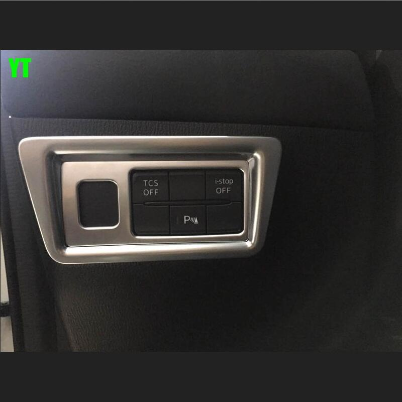 Auto inerior accessories light switch button trim inner car styling for Mazda CX 5 2017 2018