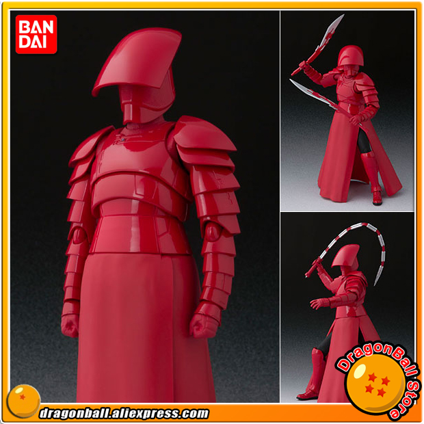 Star Wars The Last Jedi Original BANDAI Tamashii Nations S.H. Figuarts SHF Action Figure - Elite Praetorian Guard Double Blade