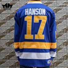 056e408bf MM MASMIG Slap Shot Steve Hanson 17 Charlestown Chiefs Hockey Jersey Blue S  M L XL XXL XXXL For Free Shipping